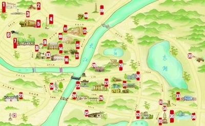 武汉首发抗战遗迹手绘地图