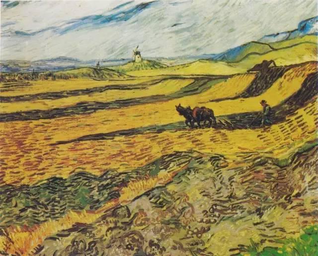 梵高果园风景油画