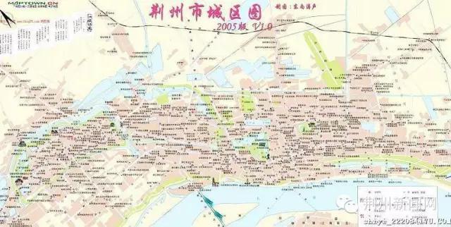 其实除了正规的行政地图,荆州的q版地图也是很有可看性