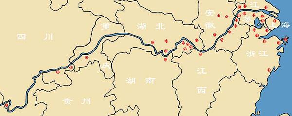 长江三角风景区地图