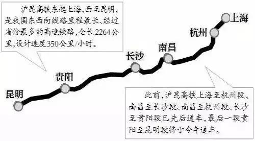 沪昆高铁开通后,武汉到长沙转车至昆明