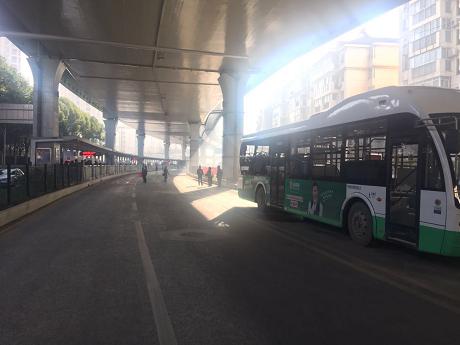 武汉雄楚大街BRT相关公交线路 停靠站点有调整图片