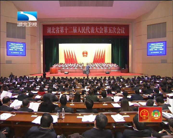 湖北省十二届人大五次会议举行第二次全体会议
