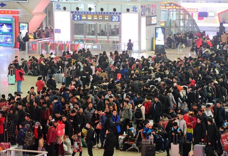 春运铁路发送旅客超亿人次 连续5天超900万人次