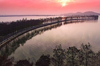 长江大桥东湖绿道 展示武汉之美