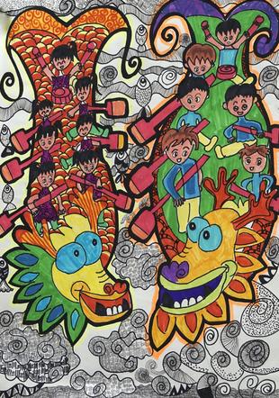 以画为媒 放飞梦想 湖北省甄选61幅少儿画作赴欧展图片