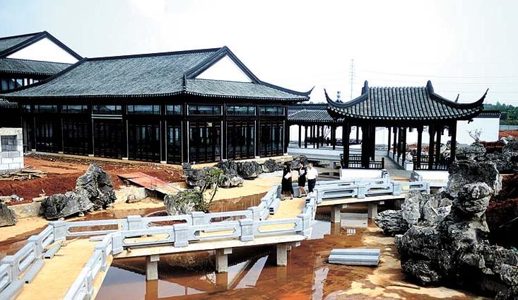 咸宁:梓山湖医疗养生文化园规模初现