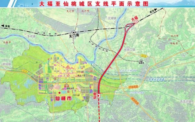 仙桃市的全部乡镇地图