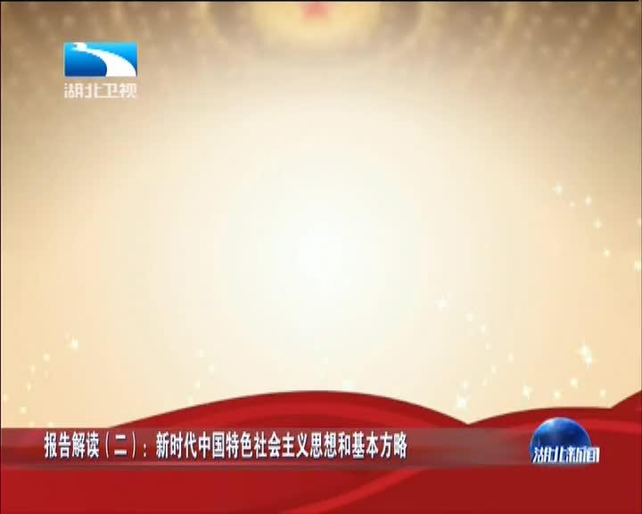 报告解读(二):新时代中国特色社会主义思想和基本方略