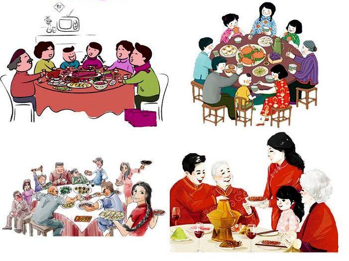 网友田记忆最深刻的是一家人欢聚一堂大快朵颐吃年饭:为此,远在大西北的二哥飞回来了;长辈妯娌间不能有口角之争,不能龃龉做脸色。家族里的男人们围坐在一口大锅四周,慢悠悠抬起一整块腊排,礼让分食,小口喝酒,啜酒的吱吱声悦耳动听;女人和小孩分坐一桌,其乐融融。这顿年饭从十二点持续到下午三点,预示细水长流。主妇源源不断送上热乎乎的下酒菜。最有喜感的是三代男丁同台划醉拳:哥俩好,三星照,四喜来财,五魁首,六六顺 不管是大年饭年夜饭还是团年饭,吃,绝对是过年最重要的主题之一。你家的团年饭哪