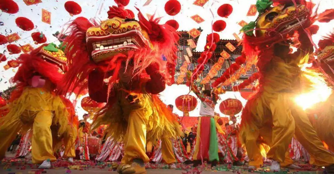 春节舞龙舞狮