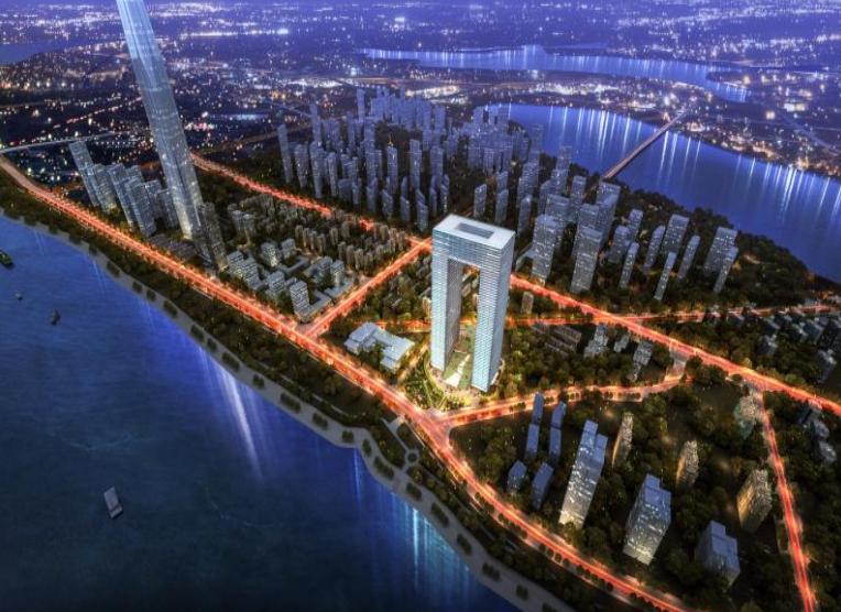 武汉市武昌区招商引资重大项目开工 长江边将