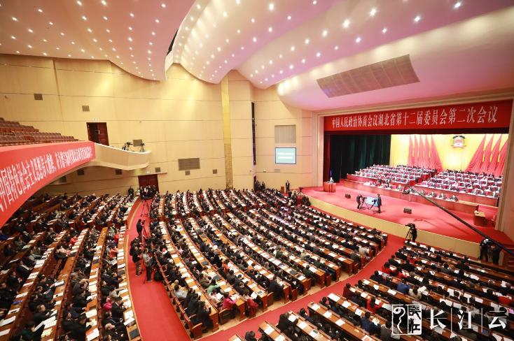 1月13日上午,政协湖北省第十二届委员会第二次会议在洪山礼堂开幕。