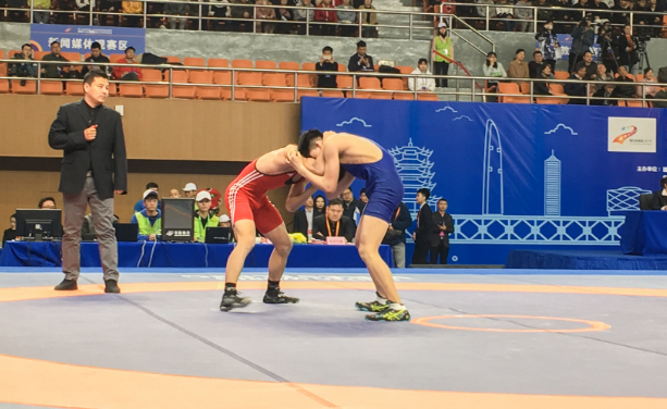 第七届世界军运会测试赛首秀 来武软看摔跤吧