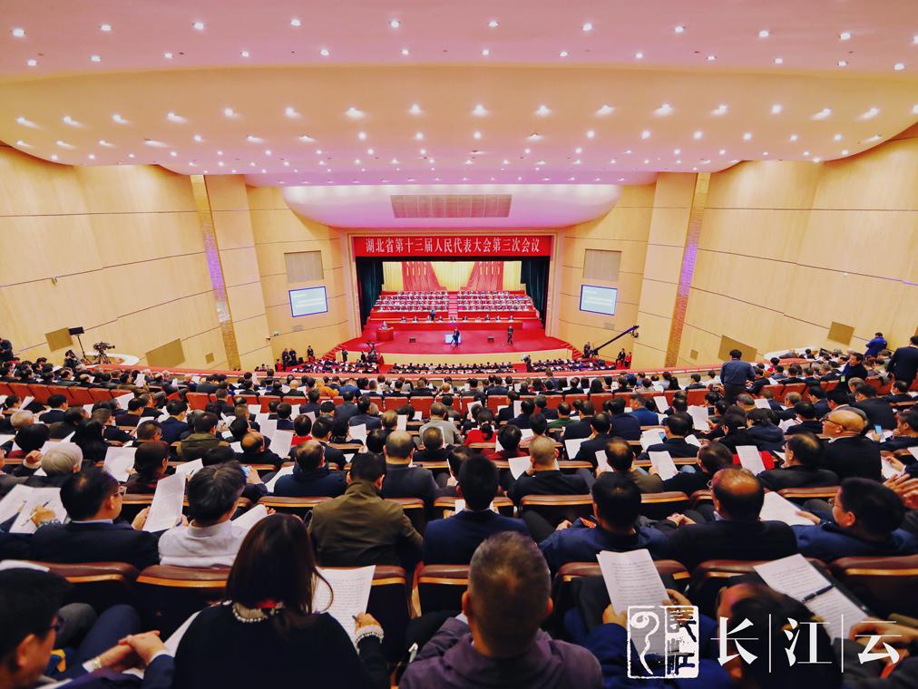 图集丨湖北省第十三届人民代表大会第三次会议开幕