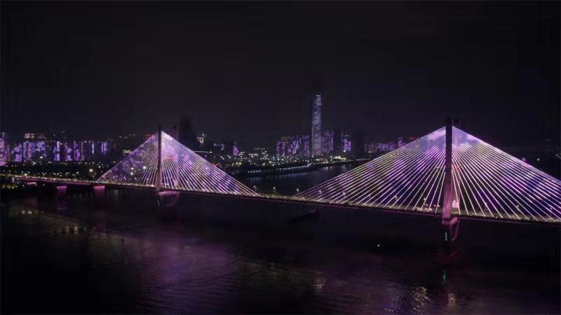 视频 | 两江四岸灯光秀点亮樱花季