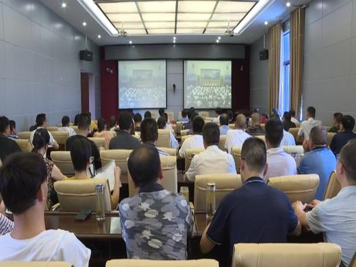 罗田县组织收听收看全国推进健康中国行动电视电话会