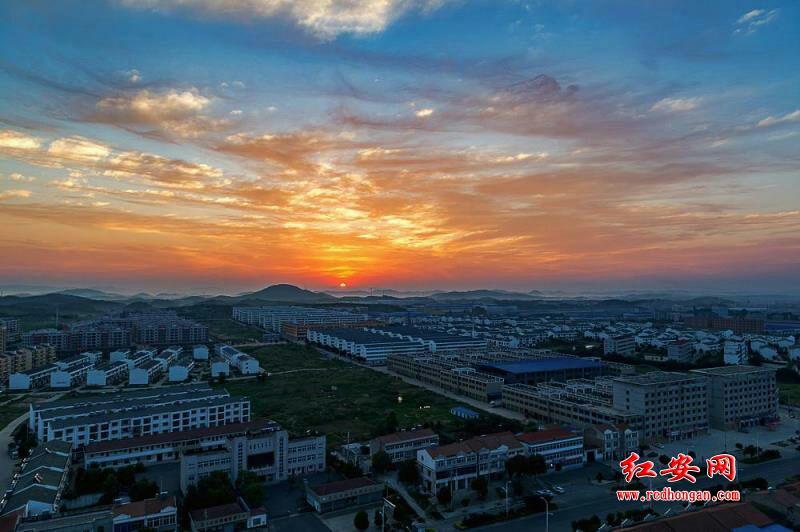 夕陽下的經濟開發區