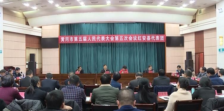 红安代表团代表审议《黄冈市人民政府工作报告》 为红安...