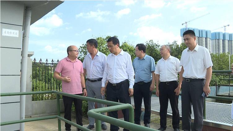 刘堂军督办觅儿寺镇污水处理厂提标升级改造工程整改工作