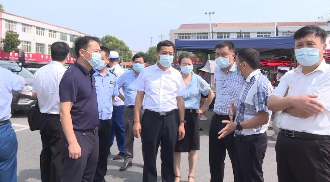 刘堂军检查中秋节期间安全生产、物资保供、疫情防控等工...