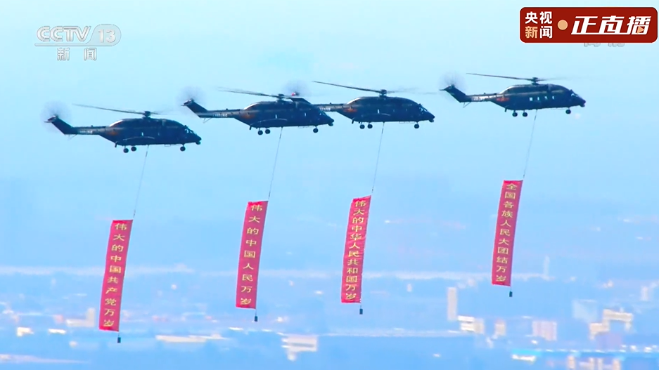 战鹰飞过天安门广场,最美的祝福送给党!