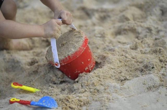 宣恩人造沙滩 孩子们的快乐天堂