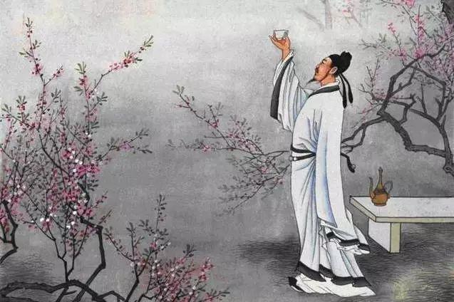 古代诗人简笔画 侧面 李白