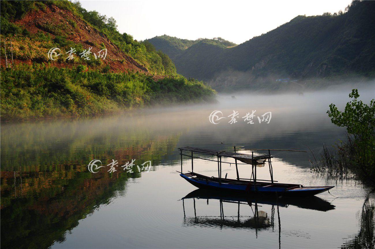 堵河清晨风景如画