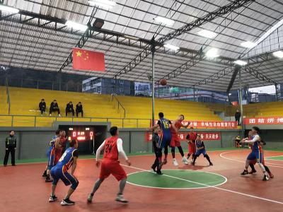 竹山男籃在市六運會職工籃球賽中獲得第三名