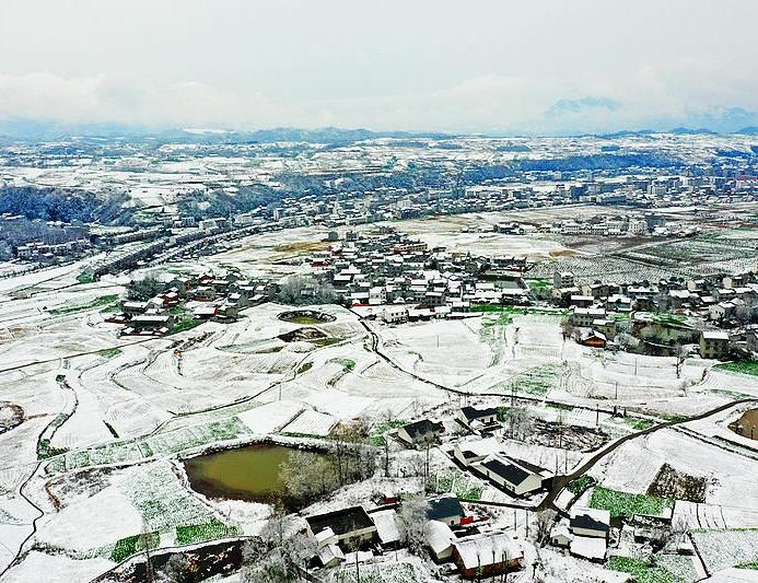 罗家坡村雪景惹人醉