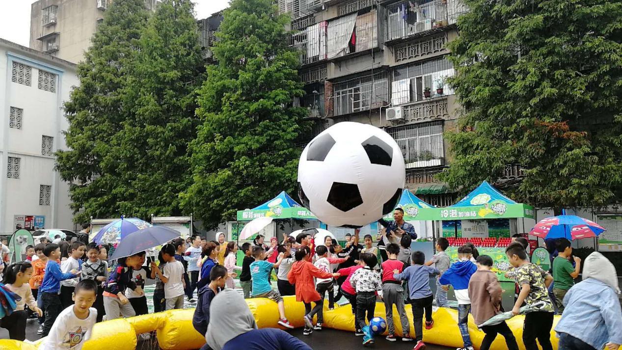 趣味足球走进襄阳校园
