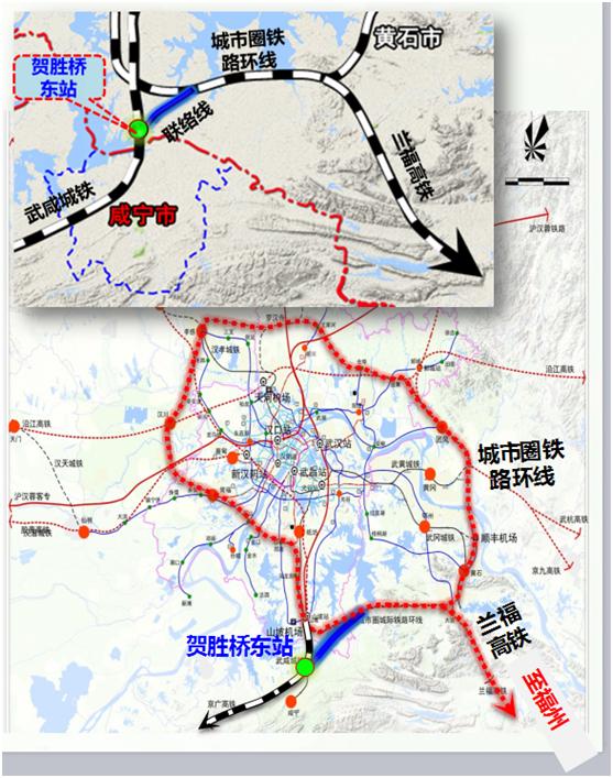 昆明南站_公示 | 《咸宁市中心城区综合交通体系规划》①对外交通系统 ...