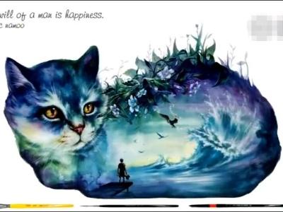 【艺术】水彩画 心理一片宁静和美好