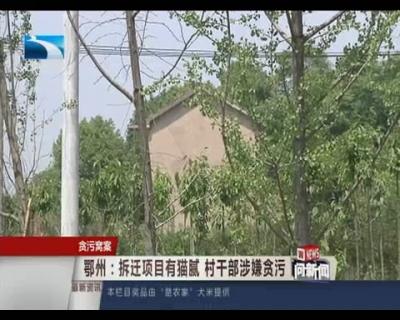 鄂州:拆迁项目有猫腻 村干部涉嫌贪污