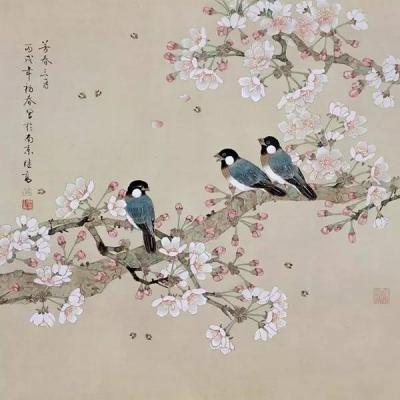 三月三:天上的风筝 地里的荠菜 花下的游人