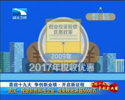 武汉:投资初创科技企业 减免税收将超5000万