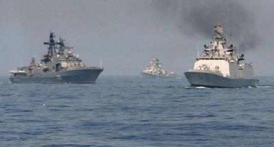俄印在远东举行陆海空军演