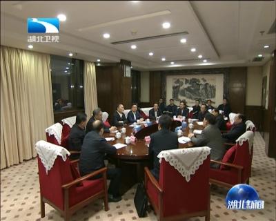 湖北和吉利集团签订项目合作协议  王晓东与吉利集团董事长李书福座谈