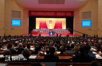政协湖北省第十二届一次会议开幕!