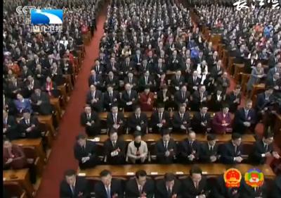 V视|十三届全国人大一次会议举行第六次全体会议