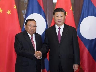 习近平同老挝人民革命党中央总书记、国家主席本扬举行会谈