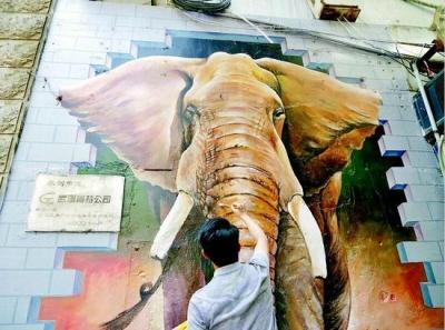 江汉路上有大象?!这是谁干的