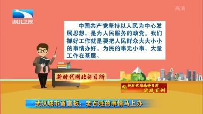 新时代湖北讲习所●实践百例(93) 武汉城市留言板:老百姓的事情马上办