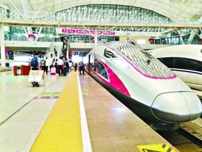 """""""复兴号""""高铁首次在武汉始发 以350公里的时速开往广州"""