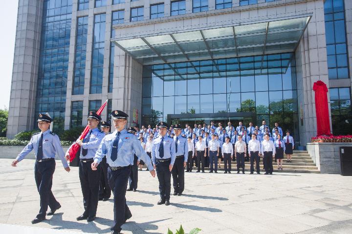 """武汉市区级税务新机构统一挂牌 """"四办""""让纳税人享便利"""