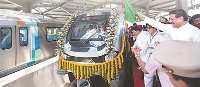 印度地铁推出爱国专列