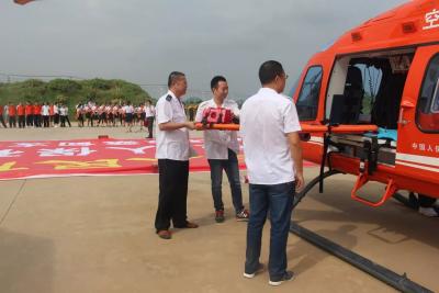 """蔡甸新增直升机救援服务 开展""""空中120""""紧急救援演练"""