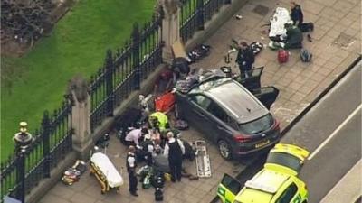 汽车撞向议会大厦,伦敦再遭恐袭