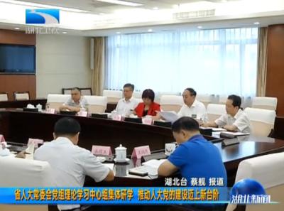 湖北省人大常委会党组理论学习中心组集体研学  推动人大党的建设迈上新台阶
